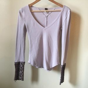 Free People purple thermal top